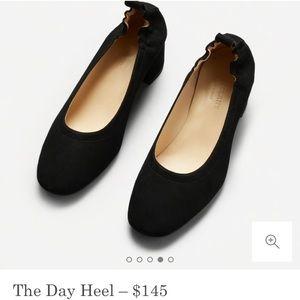 Everlane Black Suede Day Heel 8